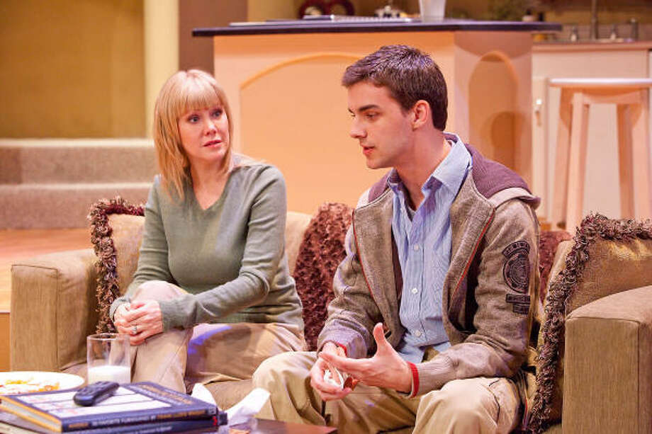 Shelley Calene-Black plays Becca and Mark Ivy is Jason in David Lindsay-Abaire's Pulitzer Prize-winning play Rabbit Hole, playing at Stages Repertory Theatre through March 22. Photo: Bruce Bennett