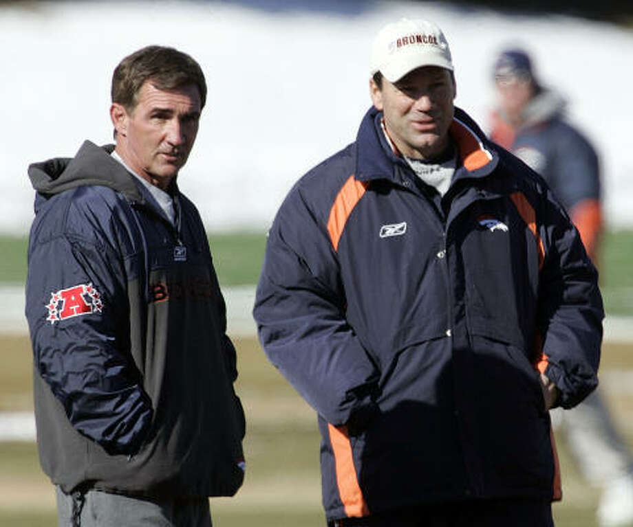 Gary Kubiak joined Mike Shanahan's coaching staff with the Broncos in 1995 and remained there until he was hired by the Texans as the team's second coach in 2006. Photo: ED ANDRIESKI, AP
