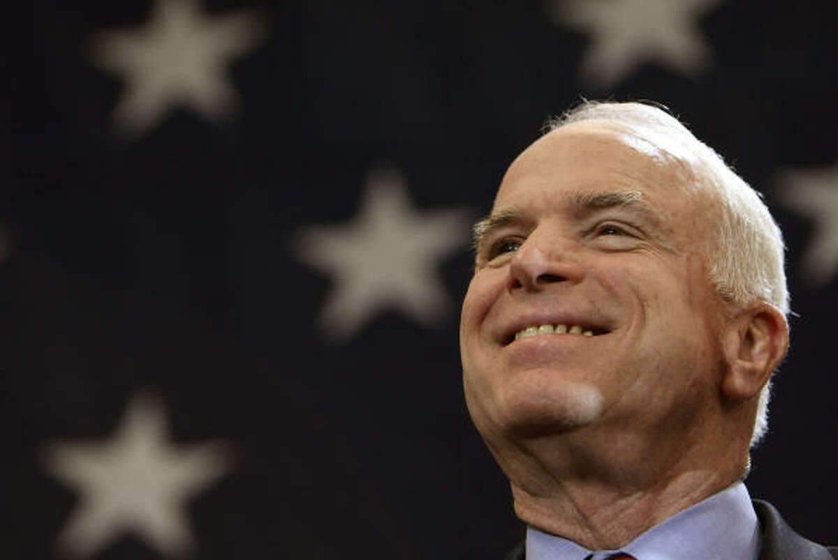 John McCain campaigns in Nashville on Saturday.