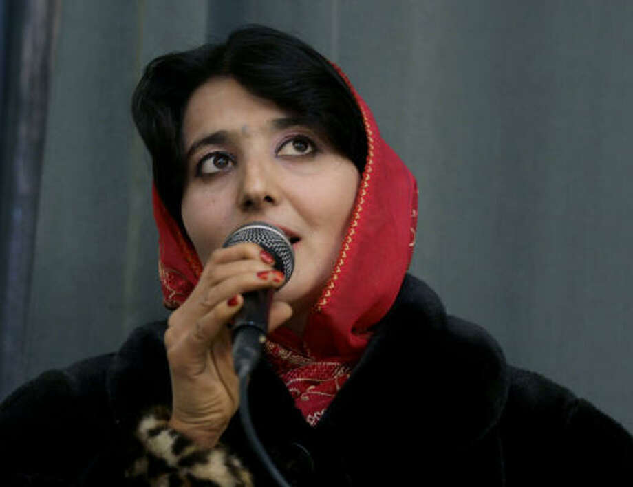 Conservatives have targeted Afghan Star contestant Lima Sahar for singing in public. Photo: Rafiq Maqbool, Associated Press