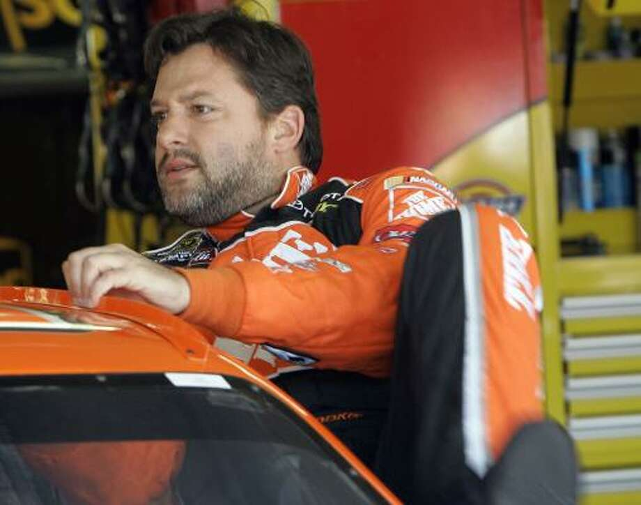 Tony Stewart would rather race in the Indianaplois 500, but will take a win in the Coca-Cola 600 if he can get it. Photo: Gerry Broome, AP