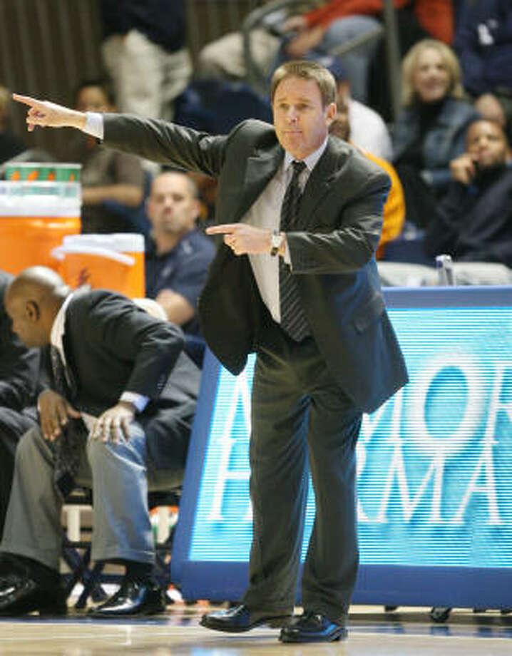 Rice basketball coach Ben Braun has a history of recruiting top notch international players. Photo: Bob Levey, For The Chronicle