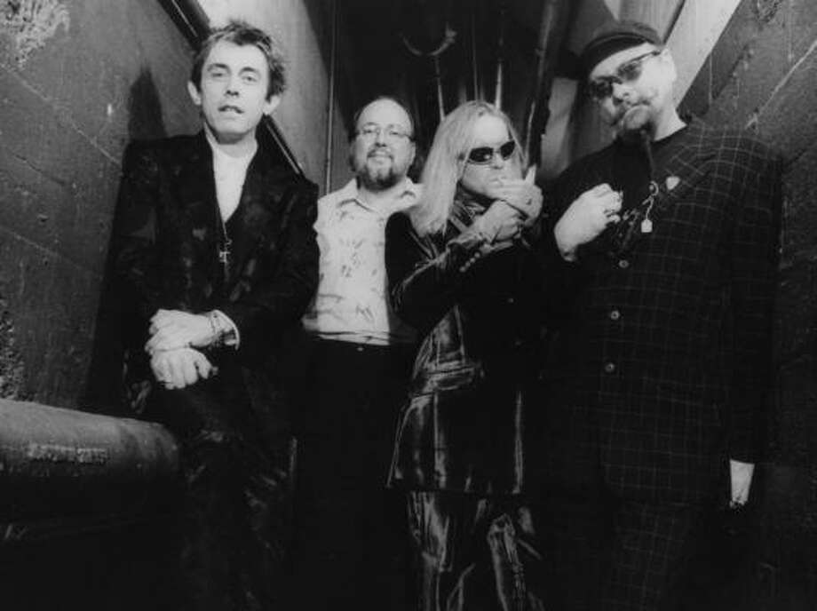 Cheap Trick, 1998: From left, Tom Petersson, Bun E. Carlos, Robin Zander and Rick Nielsen. Photo: CHUCK JONES, SONY MUSIC