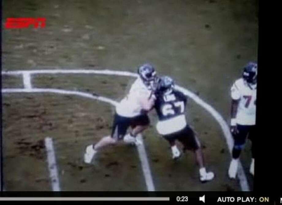 Texans OL Dan Stevenson says impermissable contact drills caused his season-ending injury. Photo: ESPN