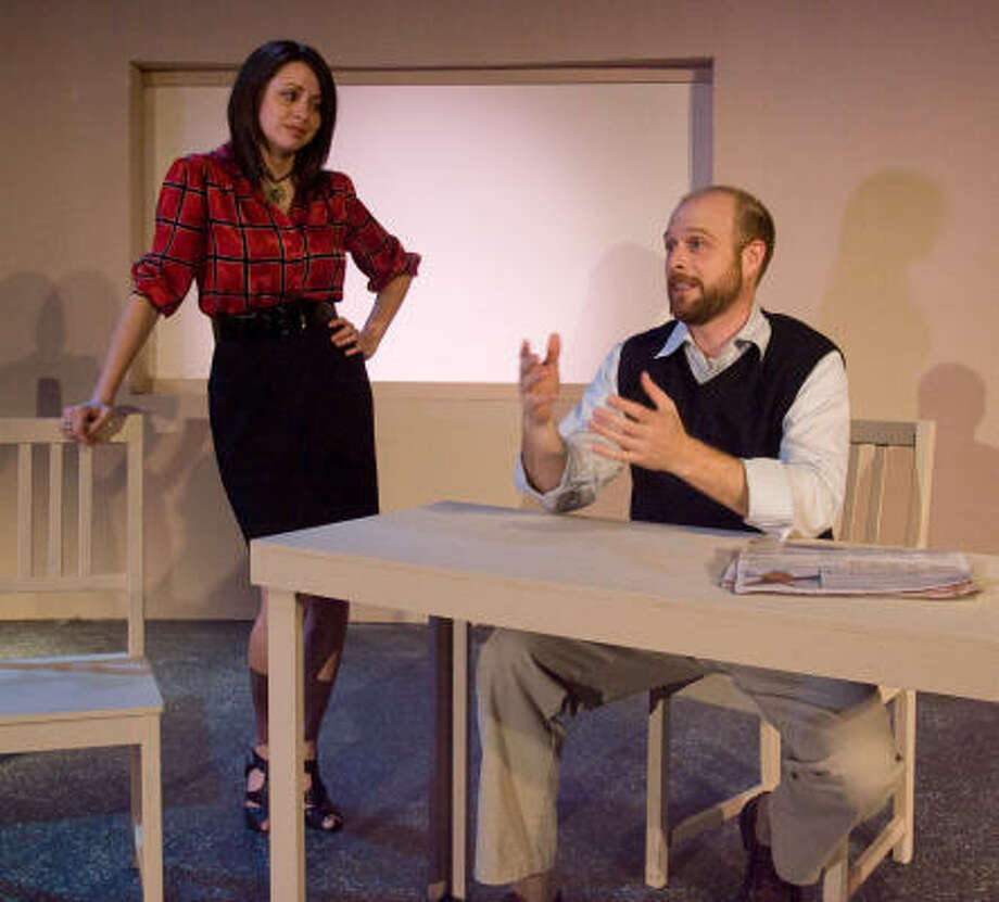 The Third Side cast members include Christie Guidry Stryk and Mark Carrier. Photo: Billy  Smith II, Chronicle