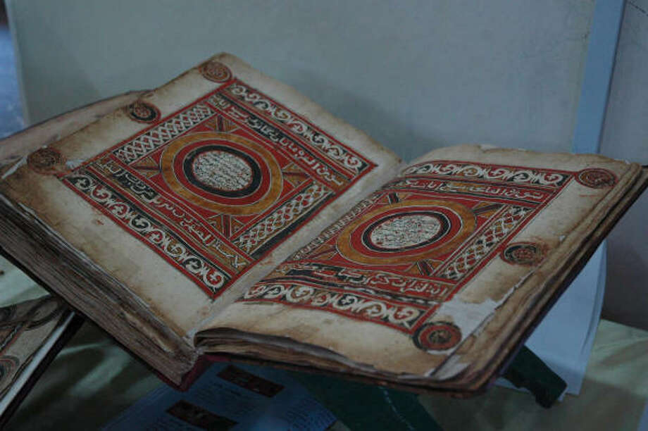 A handwritten antique Quran is on display at a museum in Harar, Ethiopia. Photo: ANITA POWELL, ASSOCIATED PRESS