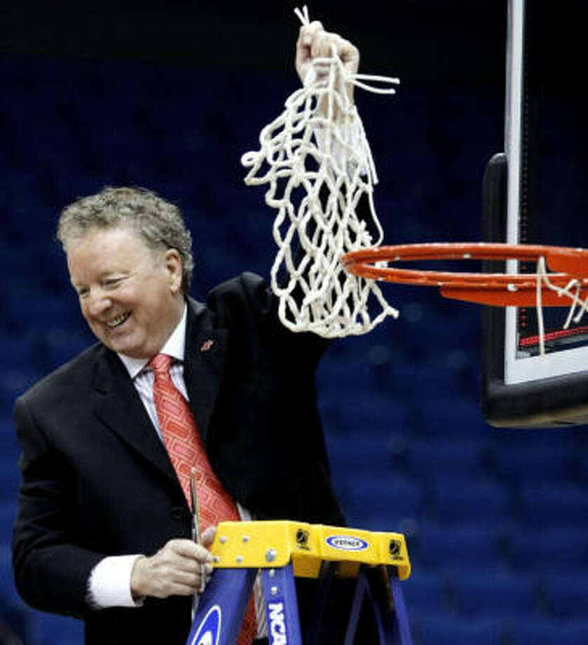 Houston coach Tom Penders guided the Cougars to the Conference USA tournament title and first NCAA appearance since 1992. Photo: Cory Young, TULSA WORLD