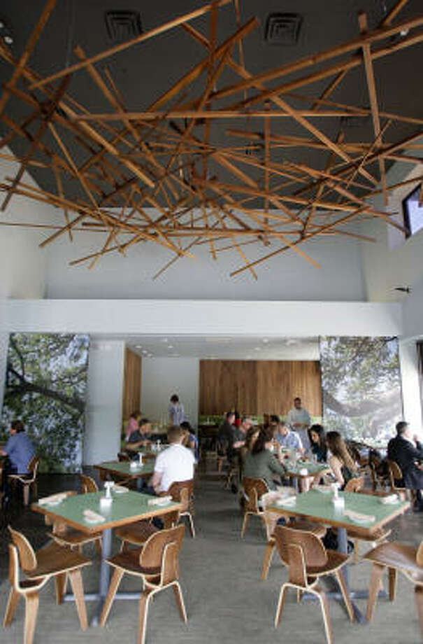 Canopy's interior evokes a nest — albeit a quite hip one. Photo: Melissa Phillip, Chronicle