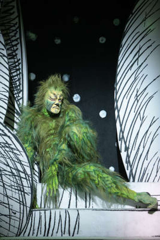 """Stefan Karl stars in the title role of """"How the Grinch Stole Christmas,"""" presented by TUTS."""
