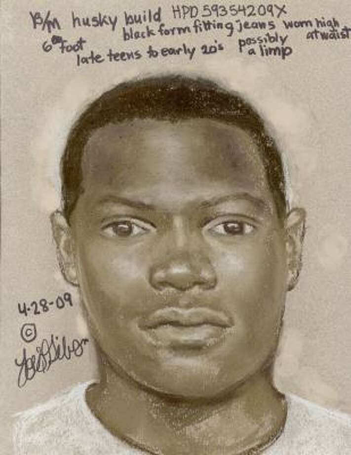 This is a sketch authorities released of the man suspected of killing Eleazar V. Barrera, 21, who was fatally wounded outside his home at an apartment complex in the 800 block of Greens Road about 11 p.m. on April 25. Photo: Crime Stoppers