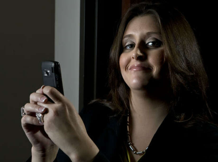 Jennifer Pharris, founder of cMoney, says she thought up her mobile application so parents could send money by text to college students. Photo: James Nielsen:, Chronicle
