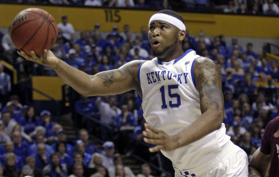 The Kings, who hold the fifth pick, have expressed an interest in Kentucky's DeMarcus Cousins. Photo: Dave Martin, AP