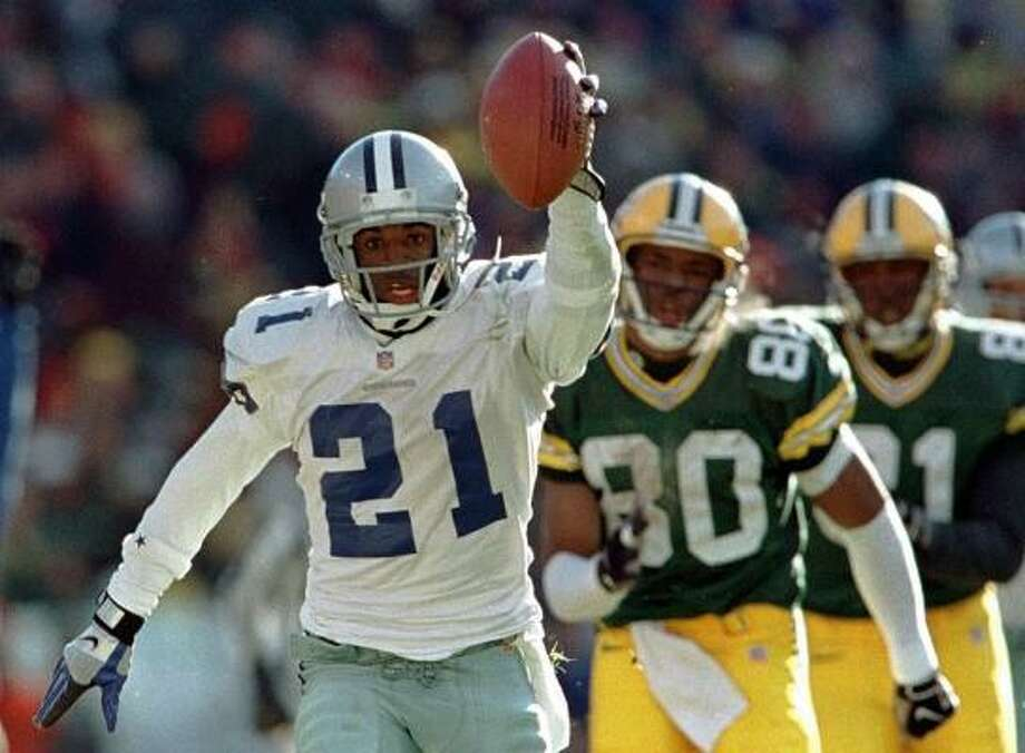 Cornerback Deion Sanders reached the Hall of Fame in his first year of eligibility. Photo: DAN CURRIER, AP