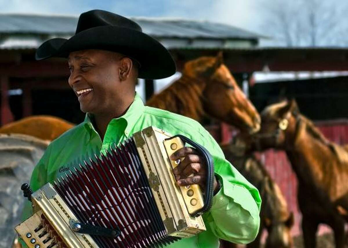 Accordionist Geno Delafose will perform at the Miller Outdoor Theatre as part of the Juneteenth concert.