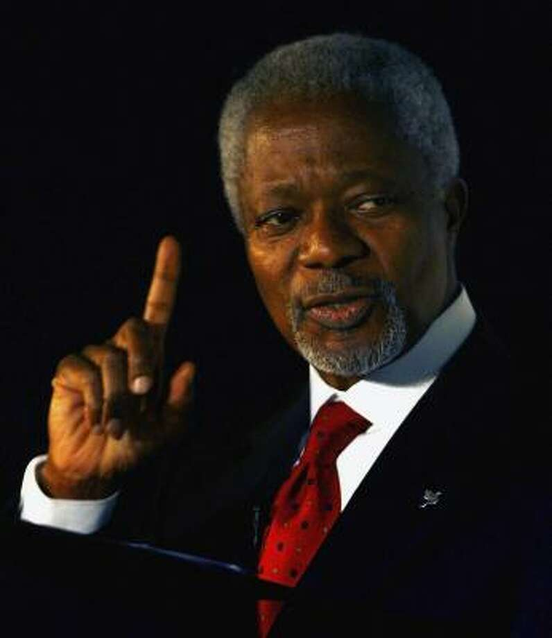 Kofi Annan's upcoming speech is part of the Brilliant Lecture Series. Photo: Jeff J Mitchell, GETTY IMAGES