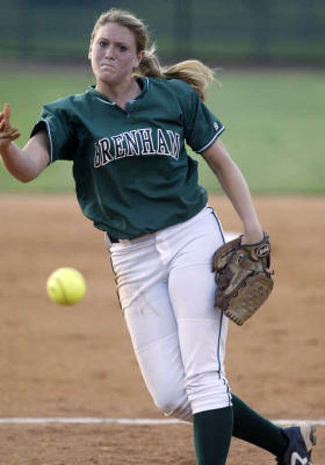 Brenham pitcher Carlee Winklemann, who threw a one-hitter in the Cubettes' 2-0 victory over Texas City in the Class 4A Region III final, is 26-6 this season. Photo: Jessica Kourkounis, For The Chronicle