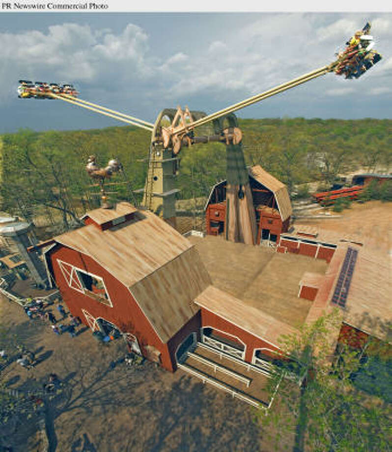 Silver Dollar City in Branson, Mo., debuted a new ride called the Giant Swing in April. It launches riders more than seven stories into the air and turns them nearly upside down. Photo: PR NEWSWIRE