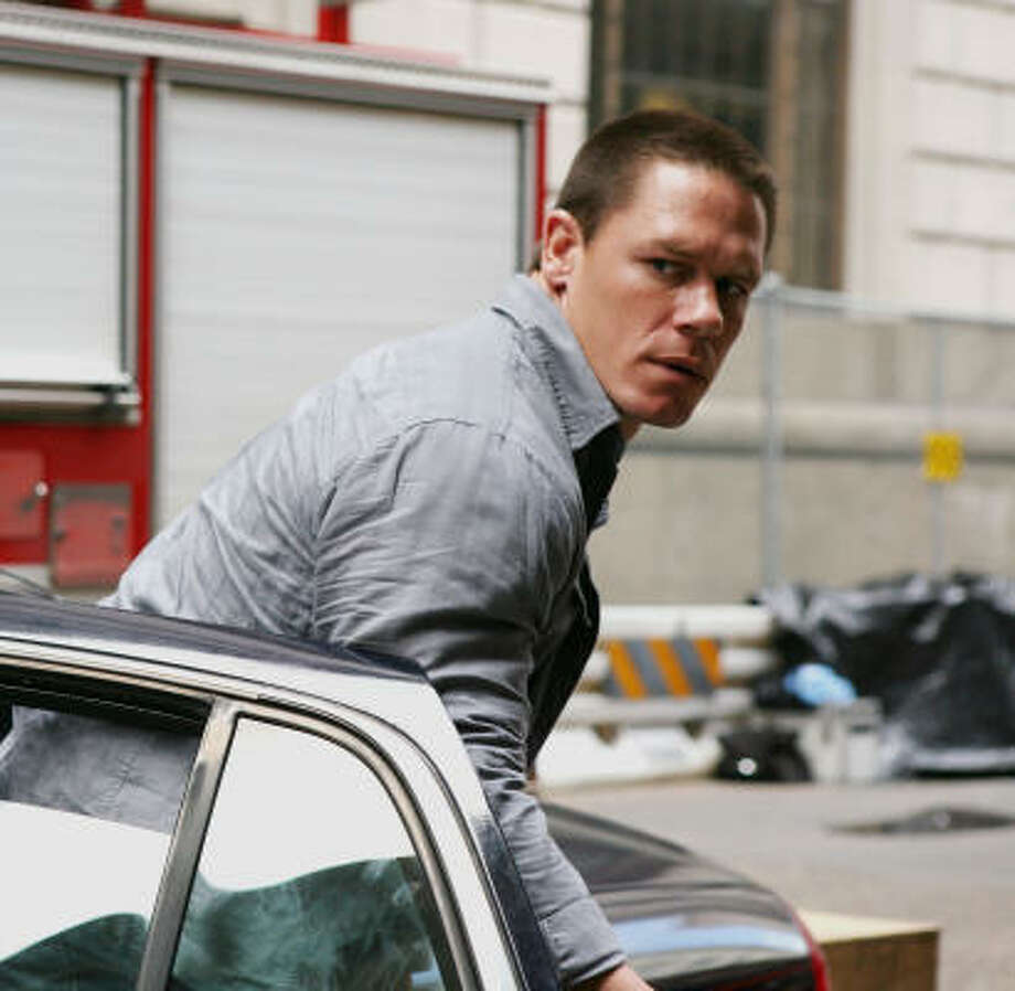 John Cena races into action-movie stardom in 12 Rounds. Photo: Patti Perret, WWE Studios | MCT