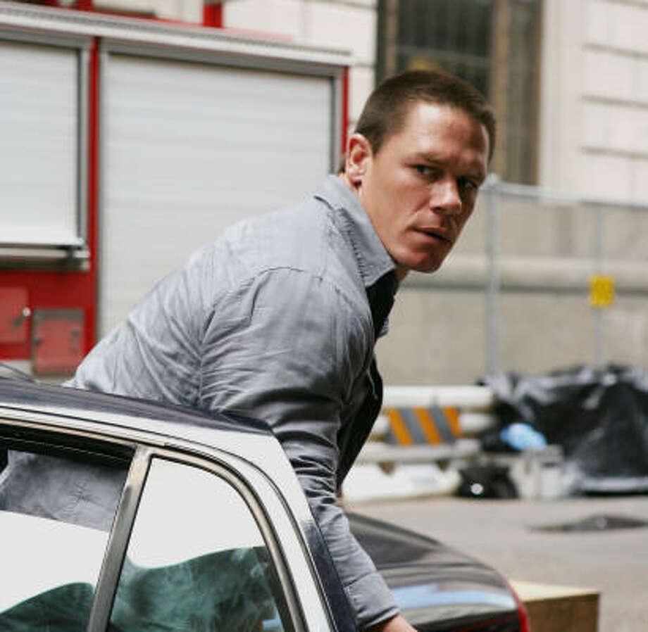 John Cena races into action-movie stardom in 12 Rounds. Photo: Patti Perret, WWE Studios | MCT