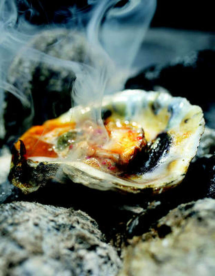 Grilled Oysters with Garlic-Chile Butter Photo: CHRIS GRANGER PHOTOS :, CLARKSON POTTER