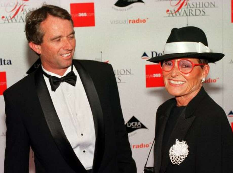 Robert F. Kennedy Jr. appears with Liz Claiborne at the Council of Fashion Designers of America awards in New York in this June 15, 2000 file photo. Photo: MITCH JACOBSON, AP