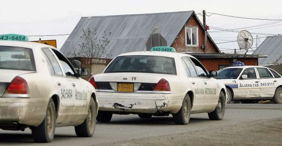 There are 70 taxis operating in Bethel, Alaska, where many of its 5,900 residents are too poor to afford a car. Photo: AL GRILLO, ASSOCIATED PRESS