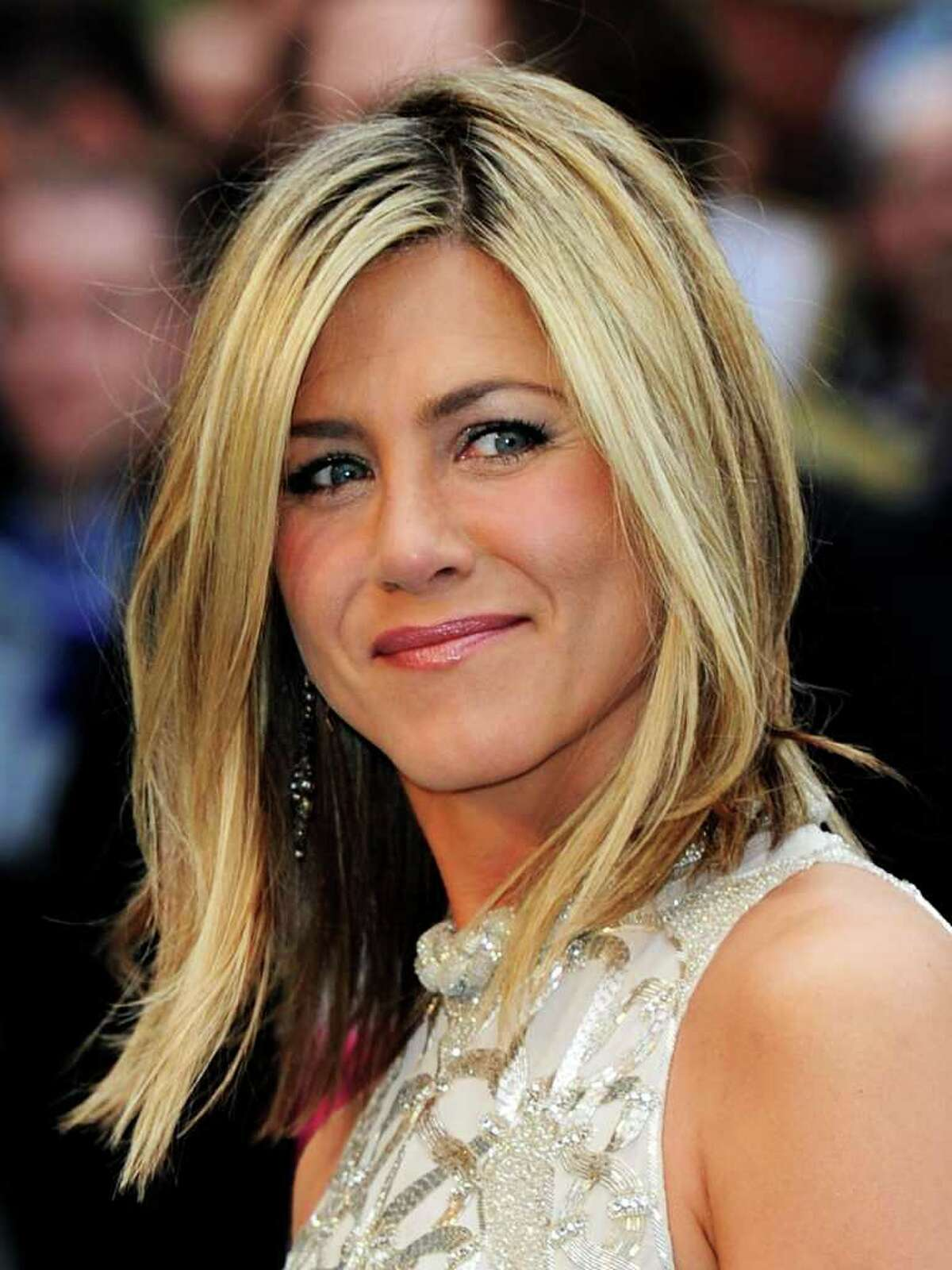 """Actress Jennifer Aniston attends the UK film premiere of """"Horrible Bosses"""" at BFI Southbank in London, England."""
