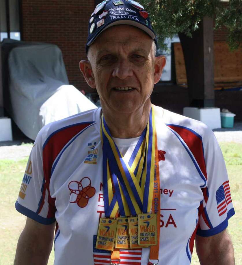Pete Kenyon returned from the World Transplant Games in Sweden with four gold medals. Photo: Ben Holbrook