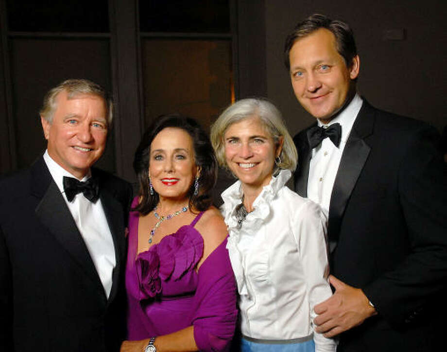 Houston Symphony opening-night gala honorees Jesse and Betty Tutor, from left, were joined by gala chairs Judy and Scott Nyquist at the Corinthian. Photo: Dave Rossman