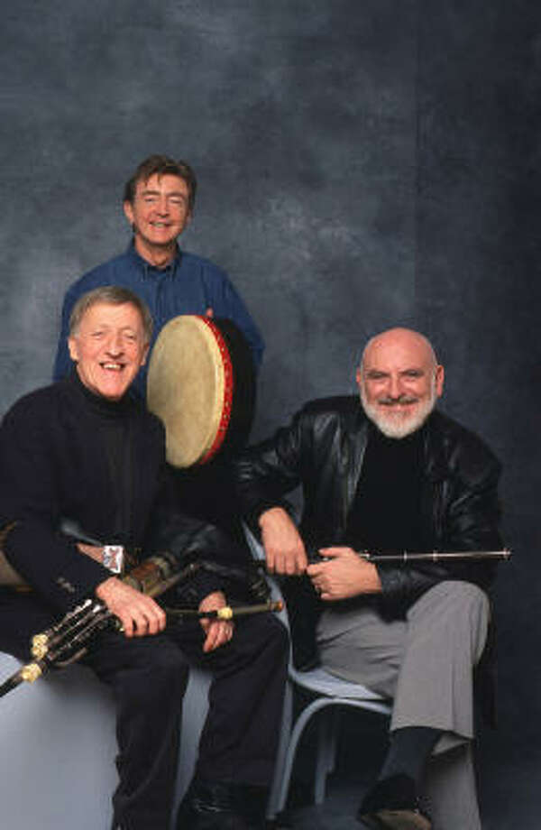 The Chieftains, Paddy Moloney, from left, Kevin Conneff and Matt Molloy, will play at Jones Hall. Photo: Barry McCall