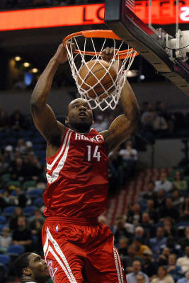 Luis Scola and Carl Landry (pictured) have turned the power forward position from an offensive black hole into the most productive one on the team. In the win over Memphis, the pair combined to shoot 11-for-13, score 30 points, grab eight rebounds and collect six steals. Photo: A.J. Olmscheid, AP