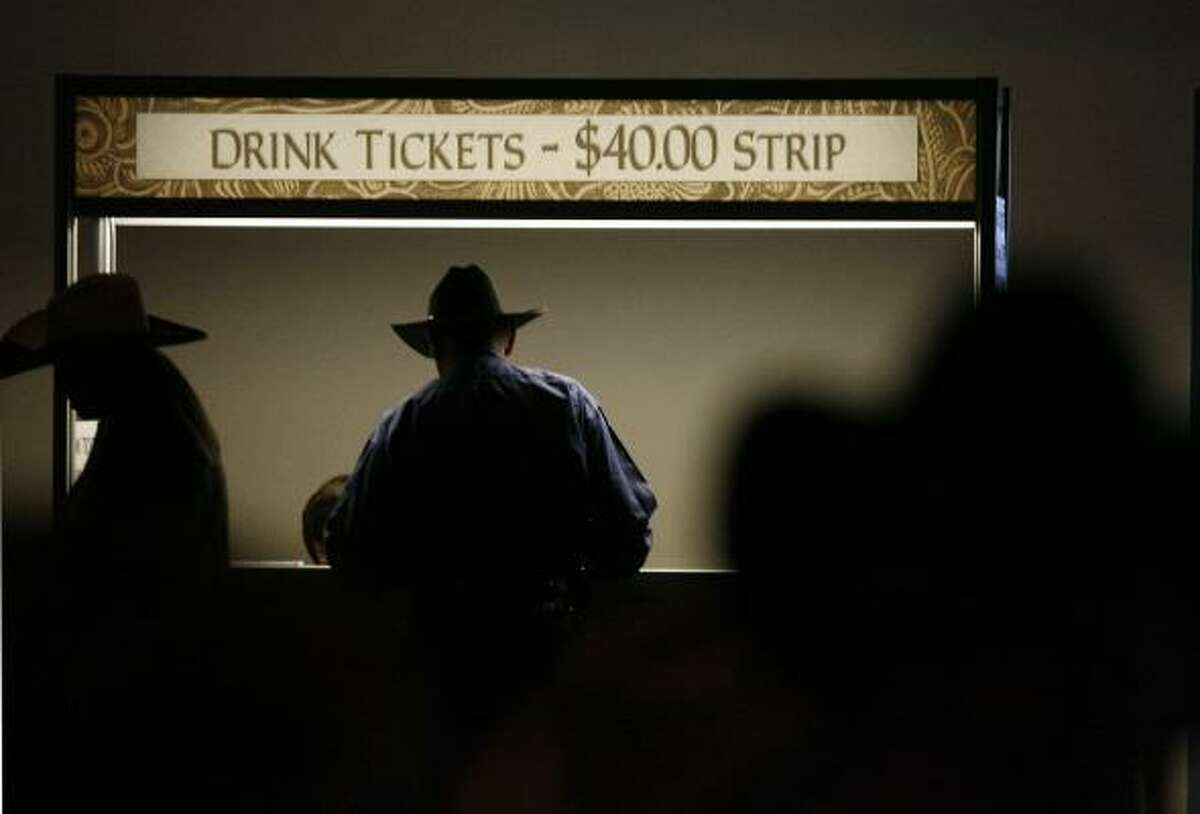 Committee members are allowed into Reliant Center clubs, but they pay for entry fees and drinks.
