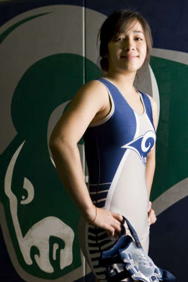 Cypress-Ridge senior wrestler Jessica Nguyen went 39-1 and won the state title as a senior in the 95-pound weight class. Photo: Brett Coomer, Chronicle