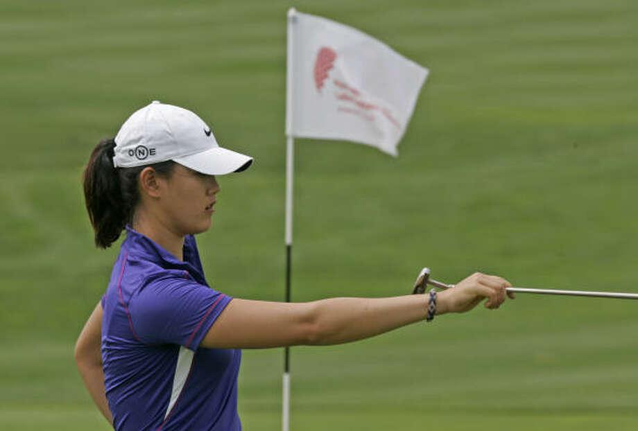 Michelle Wie birdied three of the first five holes. Photo: Diether Endlicher, AP