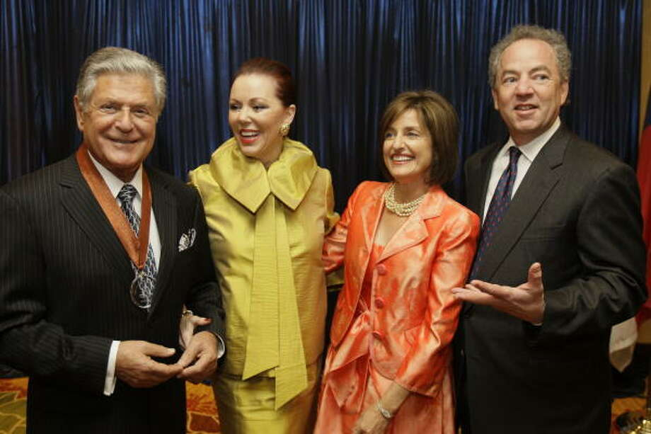 Walter Kase, from left, Chris Kase, Martha Freedman, and Don Freedman Photo: Melissa Phillip, Chronicle
