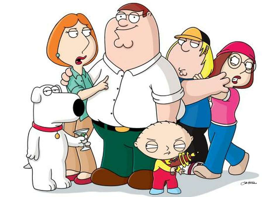 The Griffin family from Family Guy — from left, Brian, Lois, Peter, Stewie, Chris and Meg — are anything but typical. Photo: FOX BROADCASTING   ASSOCIATED PRESS