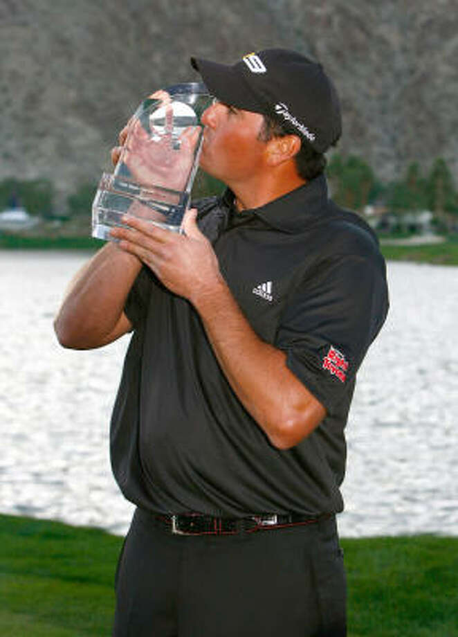 Pat Perez benefitted from a collapse by Steve Stricker as Perez got his first PGA Tour win. Photo: Jeff Gross, Getty Images