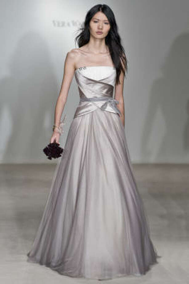 Simple soft designs such as this gown by Vera Want are in demand. Photo: VERA WANG