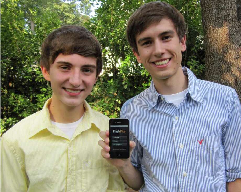 FlashPics, created by Kingwood residents Coulton, left, and Brandon Vento, is a social networking, picture sharing application. The app allows users to manage all pictures shared on various sites instantly and conveniently in one location. / handout