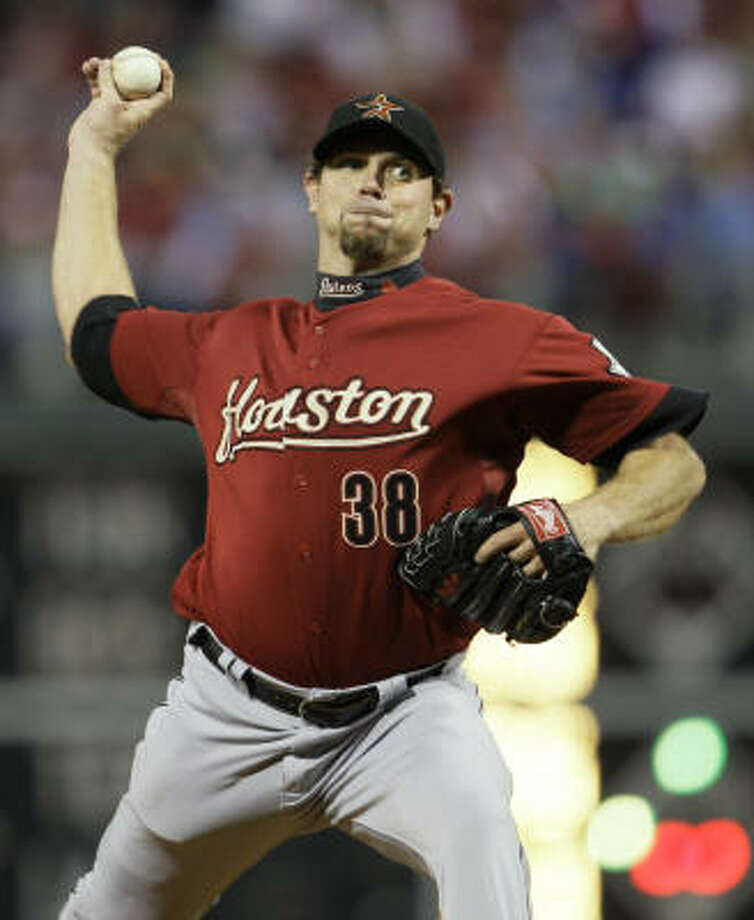 Brian Moehler started for the Astros, pitching 4 1/3 innings and allowing seven earned runs. Photo: Matt Slocum, AP