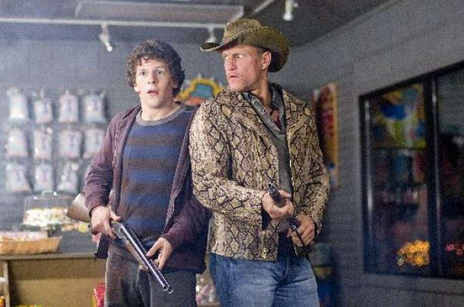 Jesse Eisenberg, left, and Woody Harrelson star in Zombieland. Photo: Glen Wilson, Columbia Pictures