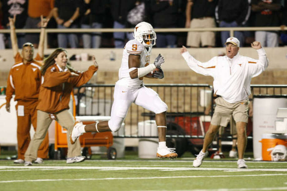 Receiver Malcolm Williams caught four passes for 182 yards and two touchdowns against Texas Tech last season. Photo: Nick De La Torre, Chronicle