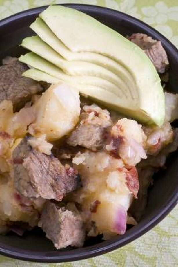 Beef and Potato Salad With Smoky Chipotle can be an appetizer, main course or even taco filling. Photo: LARRY CROWE :, ASSOCIATED PRESS