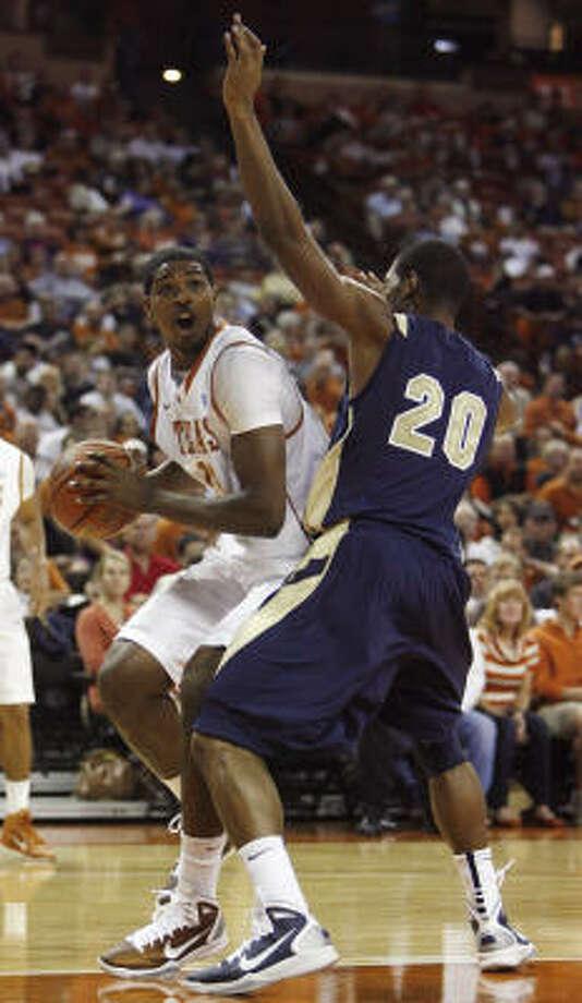 Tristan Thompson plans to model his game after former Texas center LaMarcus Aldridge. Photo: Deborah Cannon, AP