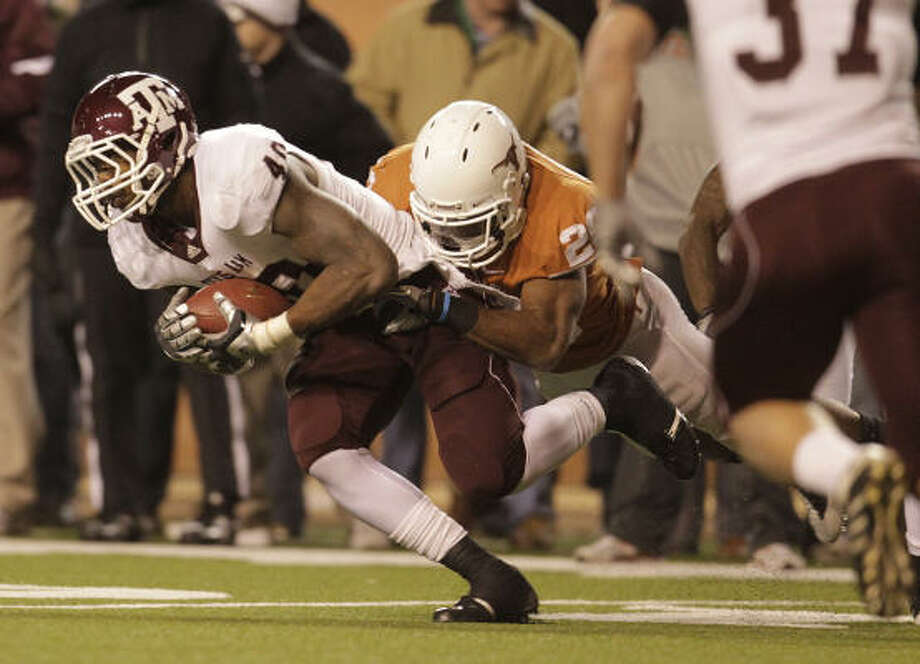 Von Miller led the Big 12 in sacks with 9 ½ and became A&M's first Butkus Award winner. Photo: Karen Warren, Chronicle