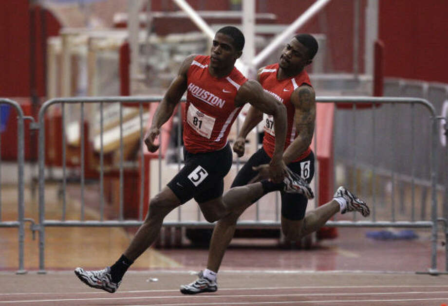 The UH men claimed the Conference USA indoor track title earlier this year. Photo: Bob Levey, For The Chronicle