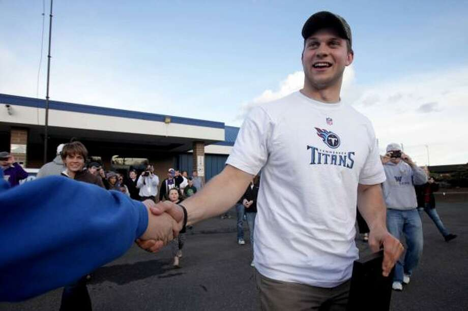 The Titans picked up their quarterback of the future as they drafted Jake Locker out of Washington. Photo: Erika Schultz, AP