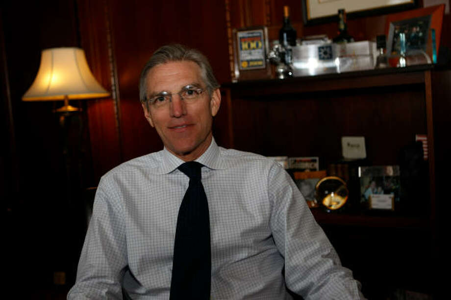 """CEO Walter """"Gil"""" Goodrich says Goodrich Petroleum Corp. had """"a pretty aggressive posture"""" in 2008 as it launched an expanded capital spending program. Photo: JULIO CORTEZ :, CHRONICLE"""