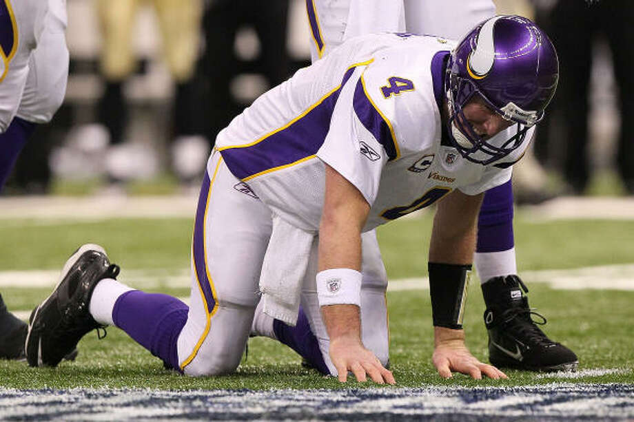 If the new rules had been in place, Brett Favre would have had a chance to tie or win the NFC title game against the Saints in January. Ironically, the Vikings were one of four teams to vote against the measure. Photo: Jed Jacobsohn, Getty Images