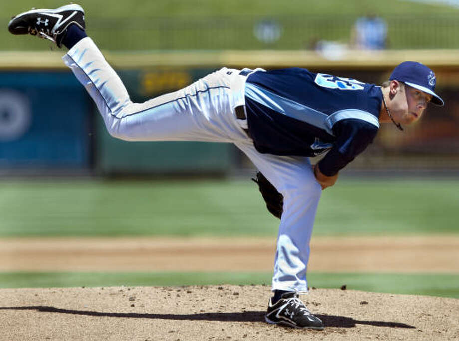 Though still a teen, Class AA starting pitcher Jordan Lyles can expect a serious look by the Astros by next year. Photo: GEORGE TULEY, CORPUS CHRISTI CALLER-TIMES